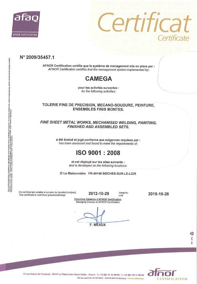 Certificat_afaq_camega_tolerie